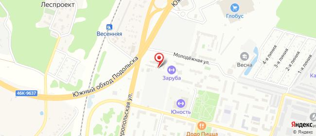 Карта расположения пункта доставки СИТИЛИНК в городе Климовск
