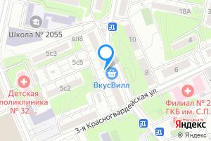 Комната в двухкомнатной квартире в Москве Стрельбищенский пер., 5