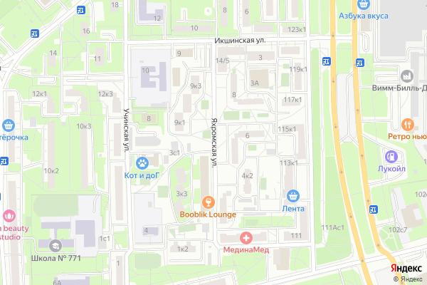 Ремонт телевизоров Улица Яхромская на яндекс карте