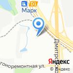 Евразия-континент на карте Москвы