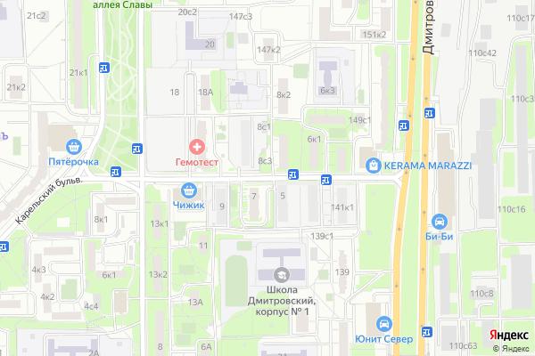 Ремонт телевизоров Улица Долгопрудная на яндекс карте