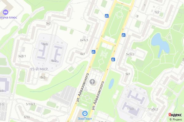 Ремонт телевизоров Улица Айвазовского на яндекс карте
