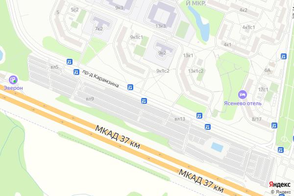 Ремонт телевизоров Карамзина проезд на яндекс карте
