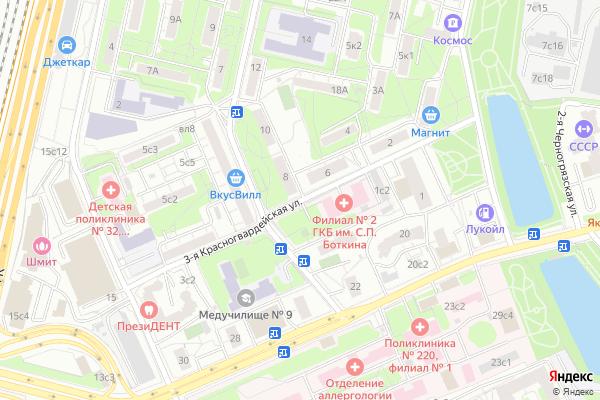 Ремонт телевизоров Улица 3 я Красногвардейская на яндекс карте