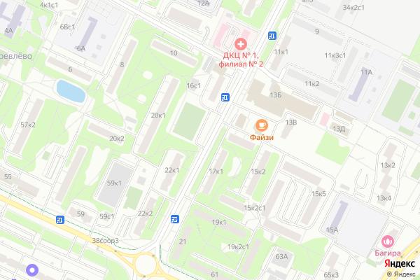 Ремонт телевизоров Улица Введенского на яндекс карте