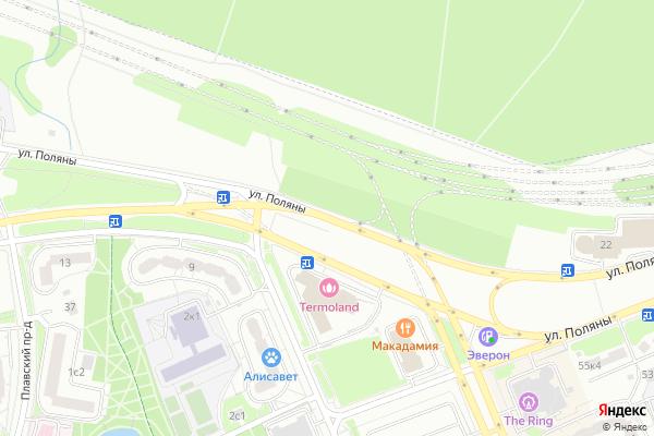 Ремонт телевизоров Улица Поляны на яндекс карте