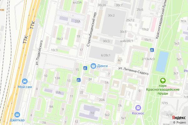 Ремонт телевизоров Улица Литвина Седого на яндекс карте