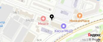 Автоклондайк клуб на карте Москвы