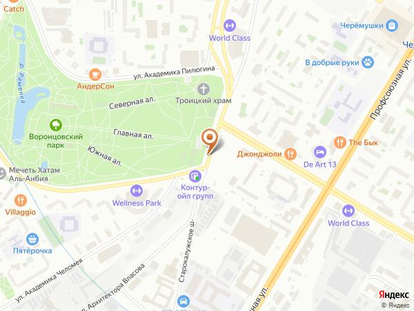 Остановка «Воронцовский парк», улица Архитектора Власова (6312) (Москва)