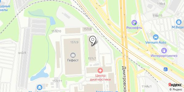 Гефест. Схема проезда в Москве