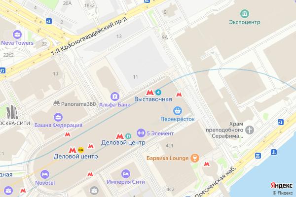Ремонт телевизоров Метро Выставочная на яндекс карте