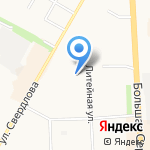 Детская библиотека №10 на карте Подольска
