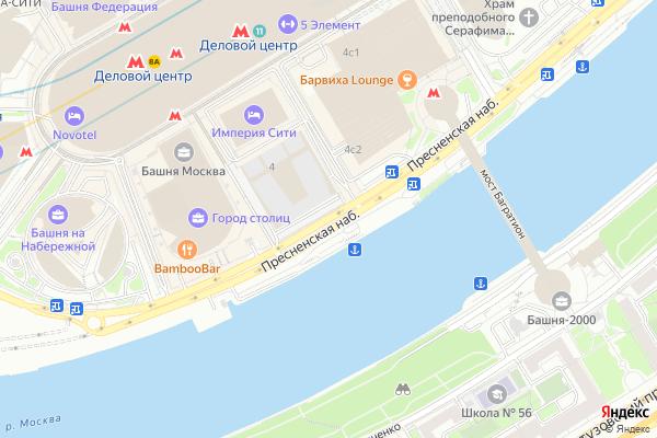 Ремонт телевизоров Пресненская набережная на яндекс карте