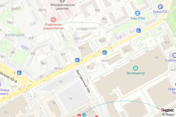 Ремонт телевизоров 1 й Красногвардейский проезд на яндекс карте