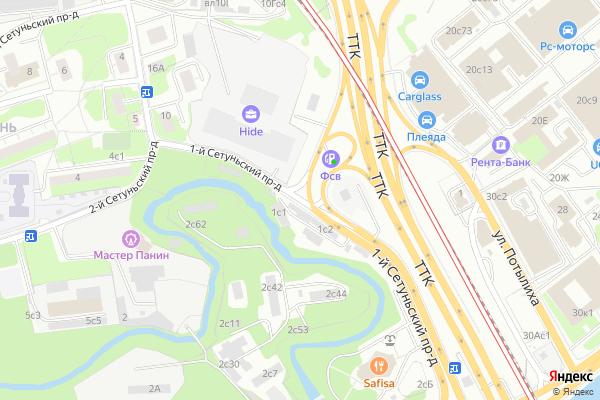 Ремонт телевизоров 1 й Сетуньский проезд на яндекс карте
