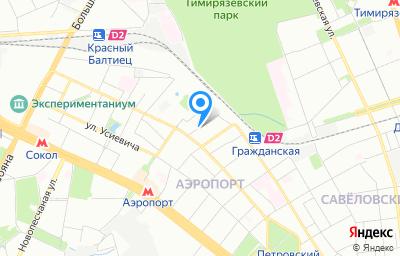 Местоположение на карте пункта техосмотра по адресу г Москва, проезд Кочновский, д 4 стр 1