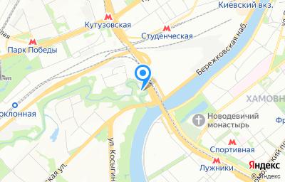 Местоположение на карте пункта техосмотра по адресу г Москва, ш Воробьёвское, д 2 стр 44