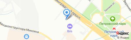 Автодаръ на карте Москвы