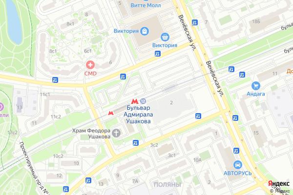 Ремонт телевизоров Метро Бульвар адмирала Ушакова на яндекс карте