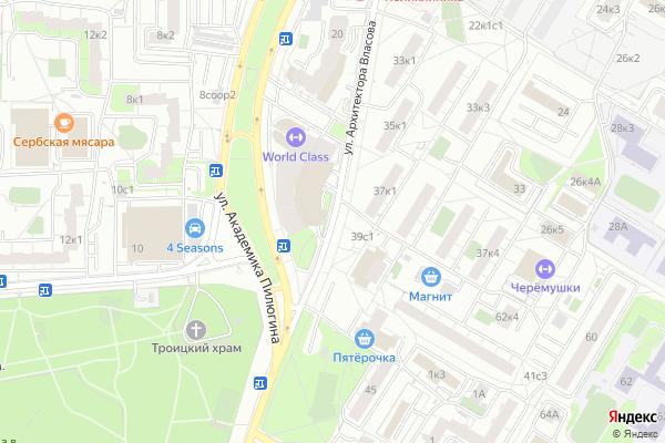 Ремонт телевизоров Улица Архитектора Власова на яндекс карте