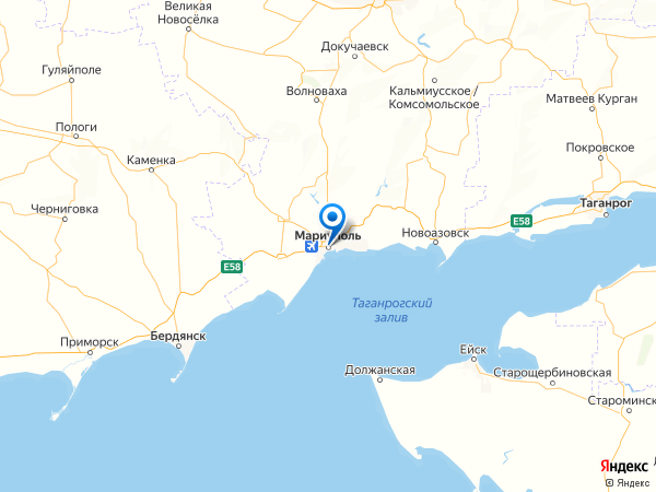 Мариуполь на карте