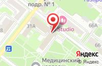 Схема проезда до компании Присяжный Поверенный в Подольске