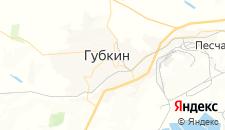Гостиницы города Губкин на карте