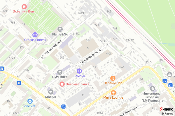 Ремонт телевизоров Кочновский проезд на яндекс карте