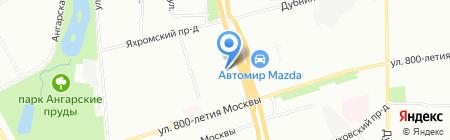 Север на карте Москвы