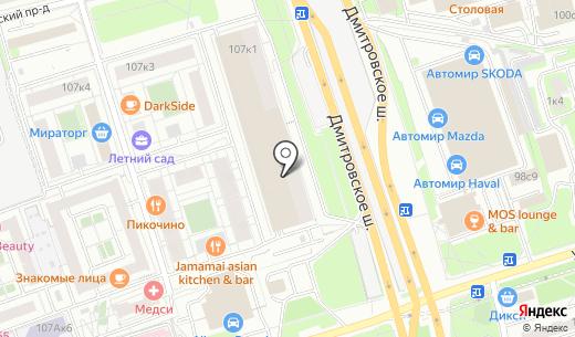 Север. Схема проезда в Москве