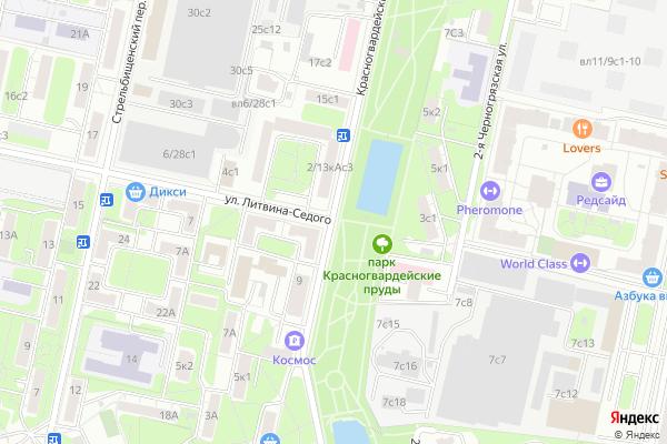 Ремонт телевизоров Красногвардейский бульвар на яндекс карте