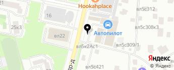 Автопилот на карте Москвы