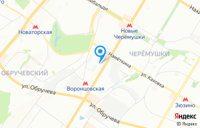 Местоположение на карте пункта техосмотра по адресу г Москва, ул Профсоюзная, д 74