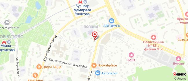 Карта расположения пункта доставки Москва Чечёрский в городе Москва