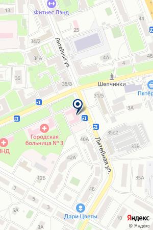 ПОЛИКЛИНИКА ПОДОЛЬСКАЯ БОЛЬНИЦА № 3 на карте Подольска