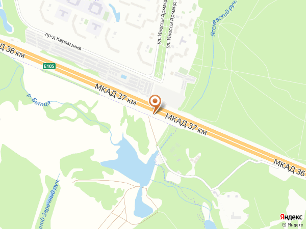 Остановка «Зона отдыха Битца», 37-й километр Московской Кольцевой Автодороги (7916) (Москва)