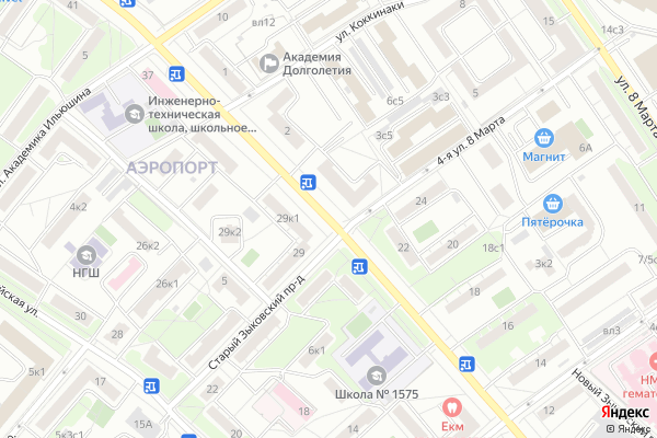 Ремонт телевизоров Улица Планетная на яндекс карте