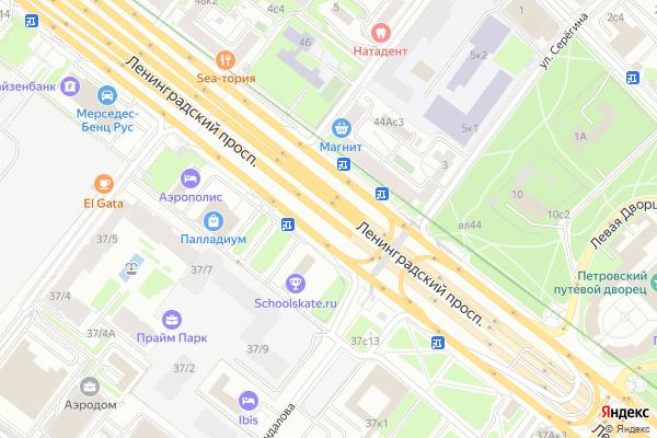 Ремонт телевизоров Ленинградский проспект на яндекс карте