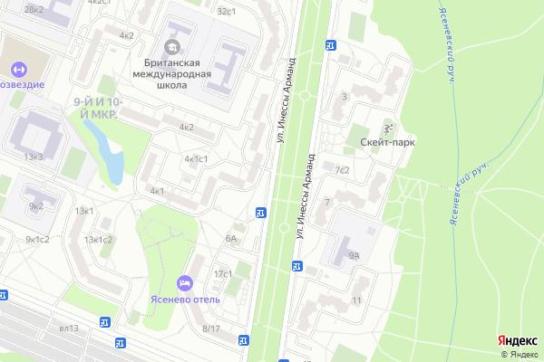 Ремонт телевизоров Улица Инессы Арманд на яндекс карте