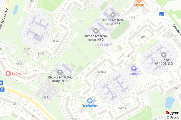 Ремонт телевизоров Район Ясенево на яндекс карте