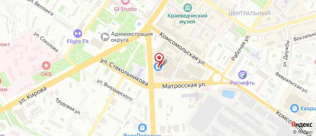 Карта расположения пункта доставки Подольск Большая Серпуховская в городе Подольск