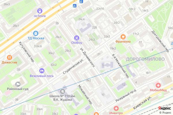 Ремонт телевизоров Улица Дунаевского на яндекс карте