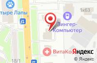 Схема проезда до компании Экспертный технический центр ЦКБН в Подольске