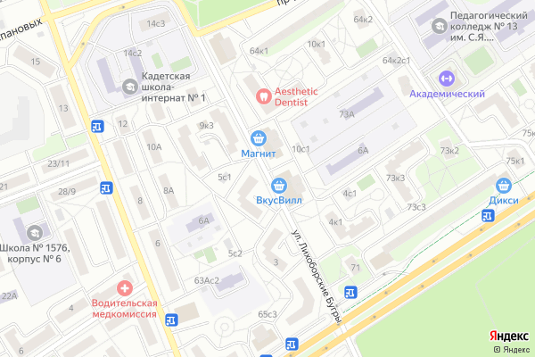 Ремонт телевизоров Улица Лихоборские Бугры на яндекс карте