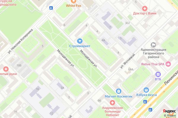Ремонт телевизоров Улица Молодежная на яндекс карте