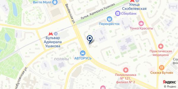 БУТОВО-22 на карте Москве