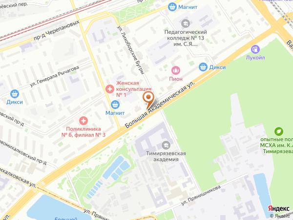 Остановка «Ул. Лихоборские Бугры», Большая Академическая улица (1008808) (Москва)