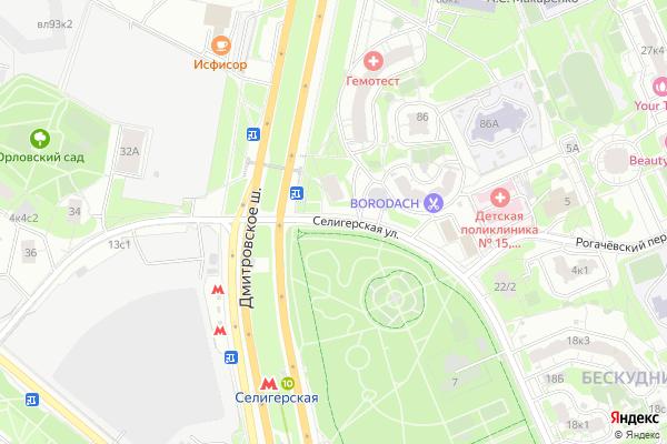 Ремонт телевизоров Улица Селигерская на яндекс карте