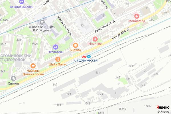 Ремонт телевизоров Метро Студенческая на яндекс карте
