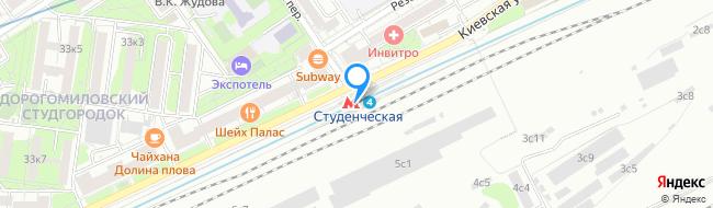 метро Студенческая